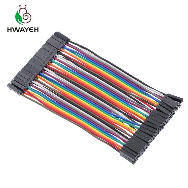 40pin разноцветные Dupont провода 40 шт. Дюпон линия 10 см 2,54 мм женский джемпер проволока лента кабель для arduino
