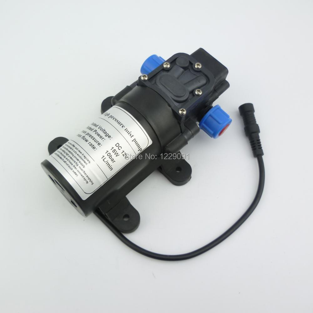 Return valve type 8bar 15W 1L/min Mini DC 12v electrical Diaphragm pump high pressure water mist Pump fog pump misting pump return valve type 12v 30w 3l min high pressure diaphragm dc micro water pump agriculture battery sprayer pump 12v dc water pump