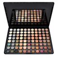 Nova moda Popular 88 cor Matte morna maquiagem sombra de olho paleta para a festa com espelho