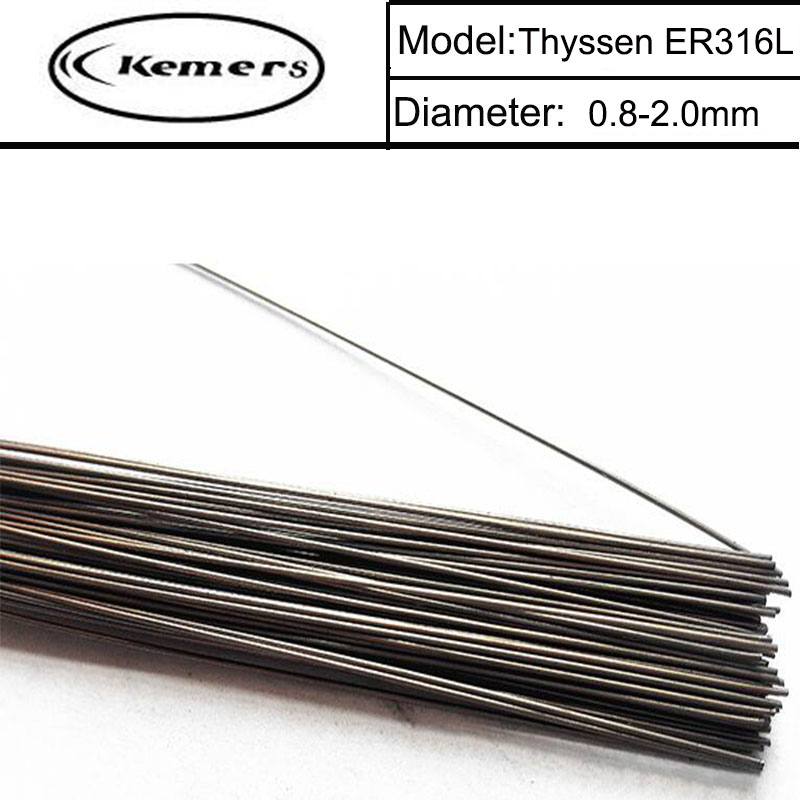 1KG/Pack Kemers Thyssen ER316L TIG Welding Wire for Welders (0.8/1.0/1.2/1.6mm) T0121587 professional welding wire feeder 24v wire feed assembly 0 8 1 0mm 03 04 detault wire feeder mig mag welding machine ssj 18