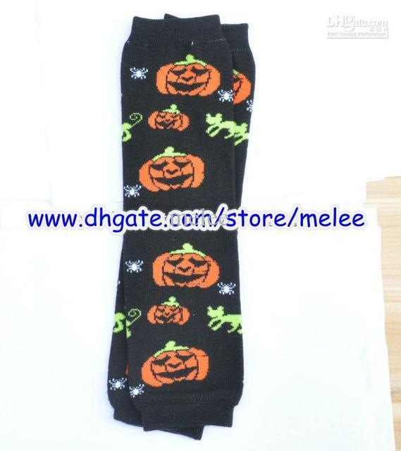 halloween christmas baby leg warmer infant colorful santa child pumpkin  sock legging tights baby skull 153cce500d85