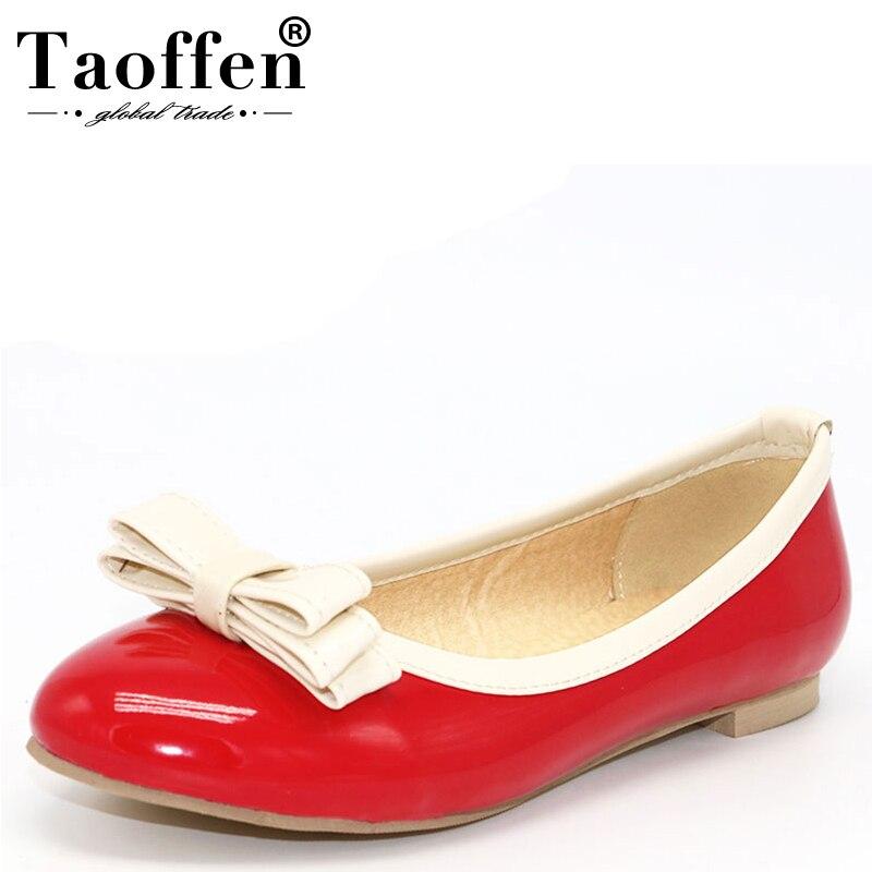 4c99514496 Tamanho 33-48 TAOFFEN Mulheres Apartamentos das Mulheres Sapatos de Meninas  Sapatos Retro Mulheres Moda Sapato de Bico Fino Slip- em Sapatos Casuais