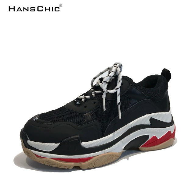 HANSCHIC 2017 Winter New Arrival Black Designer's Special Womens Ladies Sneakers Shoes for Female 2310