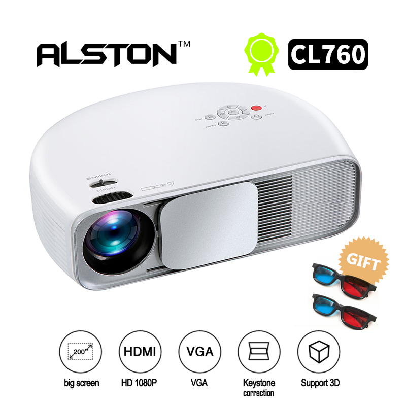 LED Projector Movie ALSTON CL760 Lumen Home Theater 3200 Beamer Video-Games LCD TV 1080P
