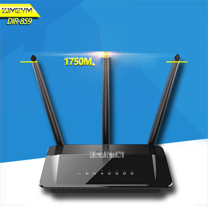 1750Mbs Transmission rate Modem Home Fiber WiFi Router DIR-859 Russian&English Firmware 2.4G/5Ghz Gigabit Smart Wireless Router tp link wifi router wdr6500 gigabit wi fi repeater 1300mbs 11ac dual band wireless 2 4ghz 5ghz 802 11ac