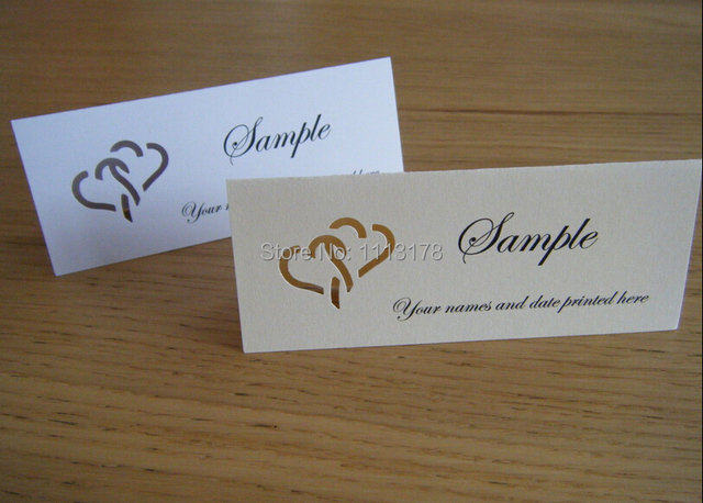 Heart name place cards table setting wedding place cards escort card wedding escort cards
