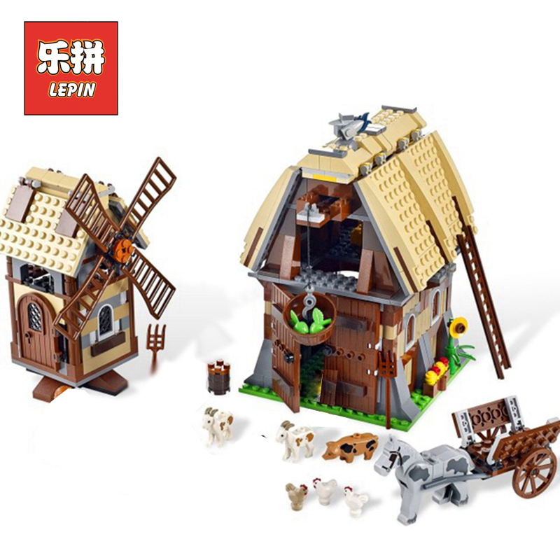 Lepin 16049 Castle Series the Mill Village Raid Set Creative 7189 Building Blocks Bricks Educational Toys Gift Model Lepin keys to the castle