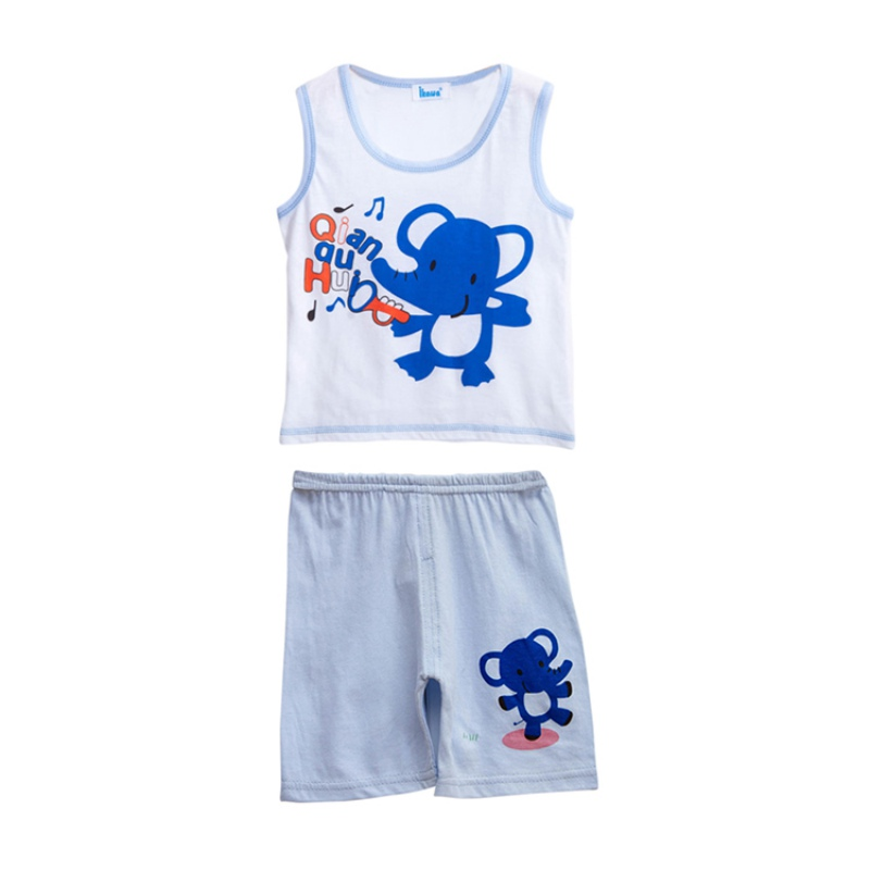 Everyday Shopping Store Summer Kids Baby Boys Costume Sets Cute Printed Cartoon Sleeveless T-Shirt Tank Tops + Shorts Set Casual Clothes Outfits