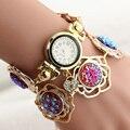 2017 Diamantes de La Moda Famosa Marca de Pulsera de Cuarzo Reloj de Las Mujeres Señoras de La Muchacha Reloj de Pulsera Relogio Feminino Reloj Mujer Montre Femme