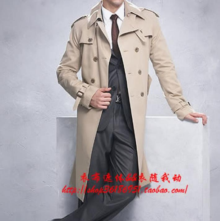 2019 new designer slim double breasted   trench   coat men overcoat long mens clothing business outerwear casaco masculino plus size