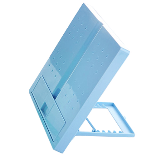 BLEL Hot JIELISI 754 square folding type reading computer typewriter document file rack blue