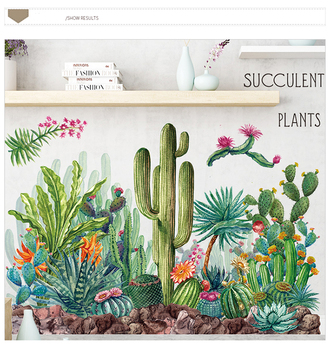 Green Cactus Wall Decals Tickers