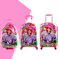 16'' 18'' 20''  Girls Princess Sofia Suitcase On Wheels/Kids Hardside Travel Luggage/Children Cartoon Design School Trolley Bags