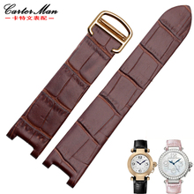 a3a837f29ea New 20 12mm de alta qualidade pulseira de couro genuíno com fivela dobrável  para cartier-pasha w3108 hpi004 relógio de pulseira