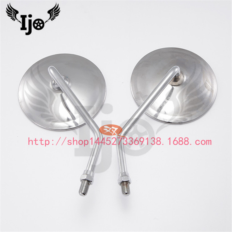 Retro chrome motorbike for harley davidson honda steed ducati moto scooter motorcycle accessories rear view rearview side mirror