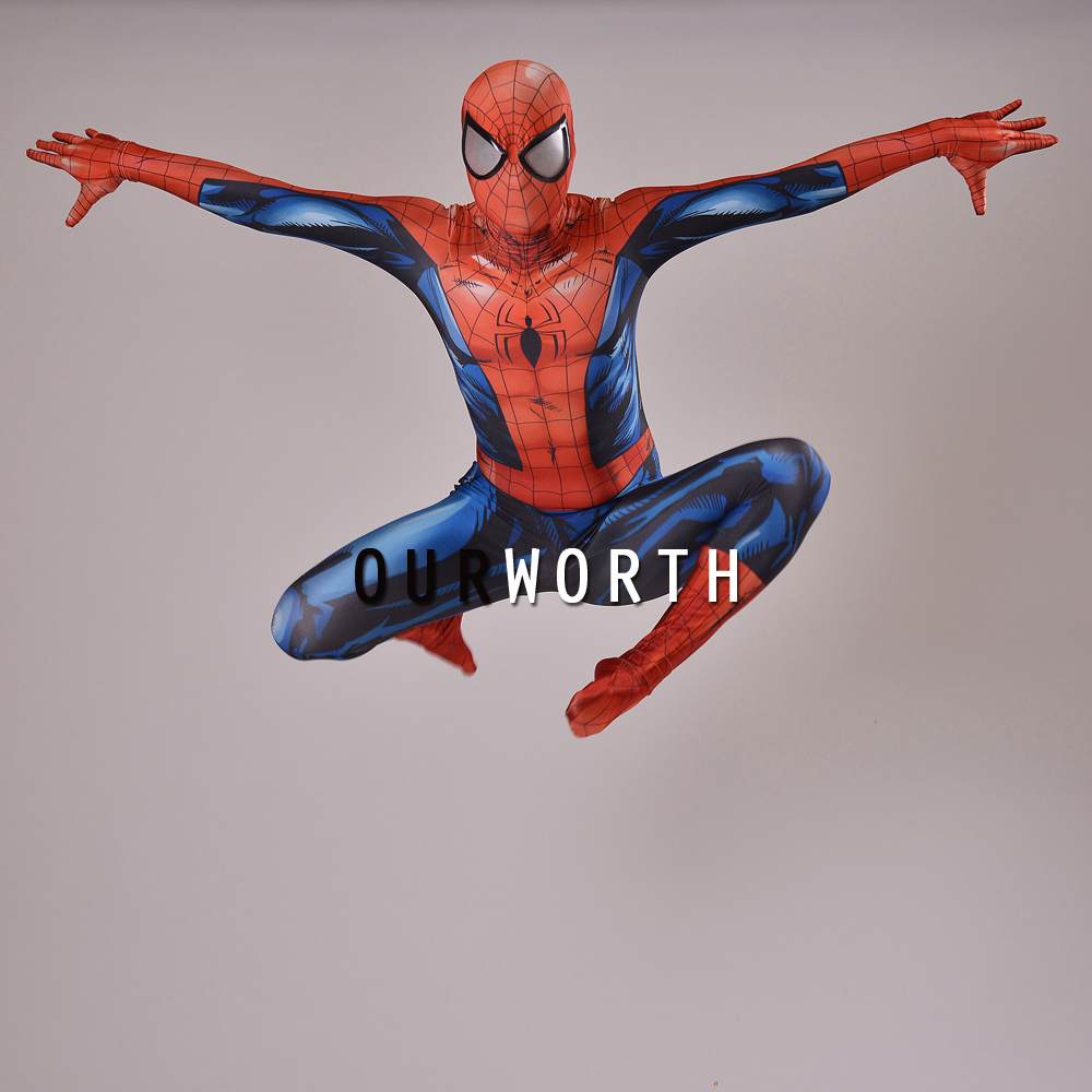 2016 Ultimate Spiderman <font><b>Costume</b></font> 3D print Shade Cosplay <font><b>Comic</b></font> <font><b>spider-man</b></font> <font><b>Costume</b></font> Male Spandex Superhero <font><b>Costume</b></font> Custom Made