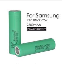 2 PCs for Samsung original 18650 lithium batteries discharge 25R inr1865025r 20a, 2500 MAH battery of electronic cigarette
