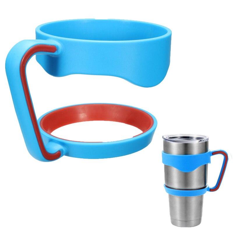 Hot Portable Plastic Black Water Bottle Mugs <font><b>Cup</b></font> <font><b>Handle</b></font> <font><b>For</b></font> YETI <font><b>30</b></font> Ounce Tumbler Rambler <font><b>Cup</b></font> Hand Holder Fit Travel Drinkware