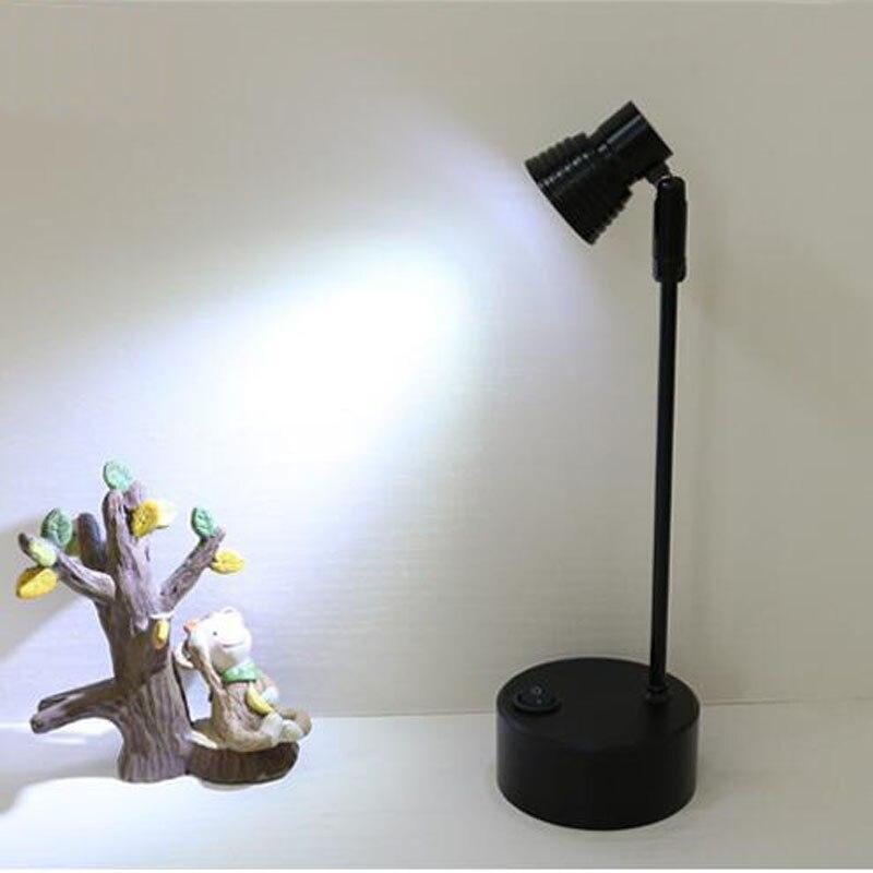 Led Batterie Lampe Schaufenster Zähler Oberfläche Montiert Lange Stange Mini Miniatur Schmuck Kann Bewegen Und Laternen lo4613 - 3