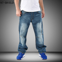 Brand Mens Baggy Harem Jeans Pants Denim Loose Washing Jeans Men Hip Hop biker jeans Boys Casual Skateboard Relaxed Fit Jeans
