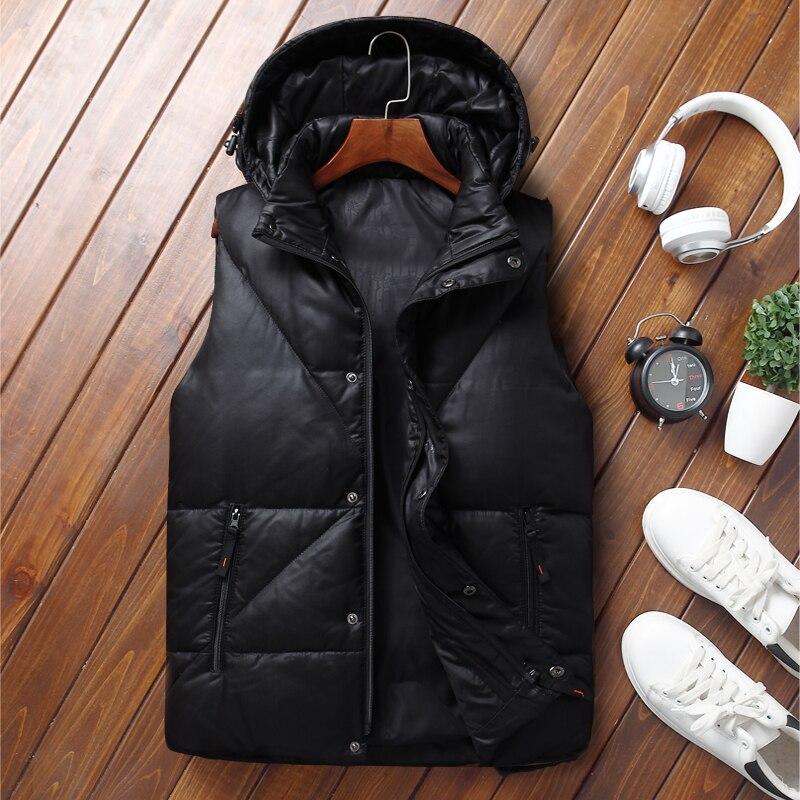 100% QualitäT Winter Weste Männer Unten Jacke Neue Mode Marke Kleidung Casual Männer Westen & Westen Heißer Verkauf Ente Unten Jacke Männlichen Weste VerrüCkter Preis