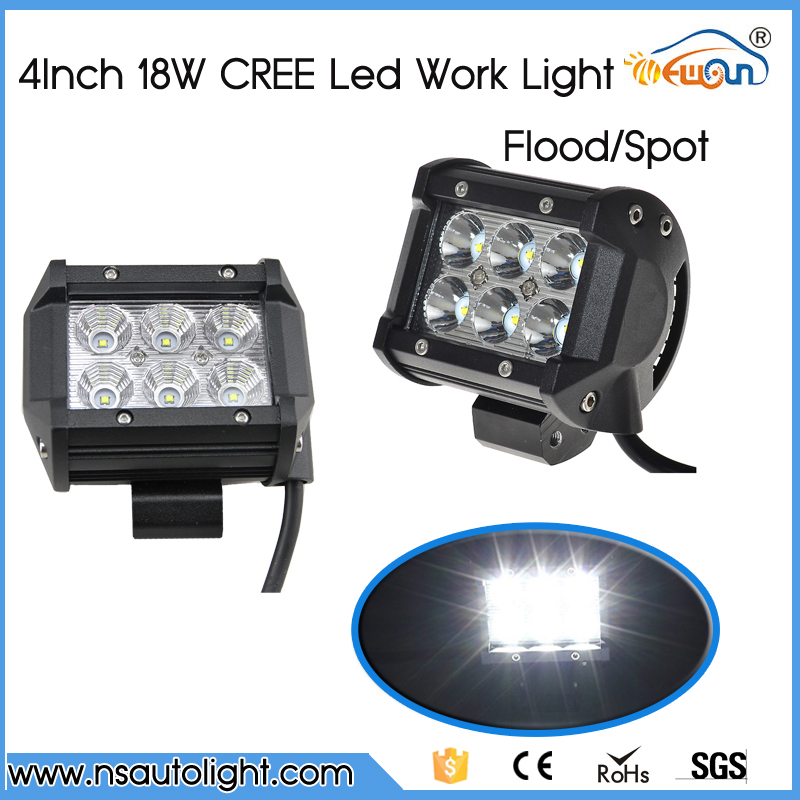 2pcs 4 inch 18W Led Work Light Bar Car LED Work Off Road Light 4x4 Wagon