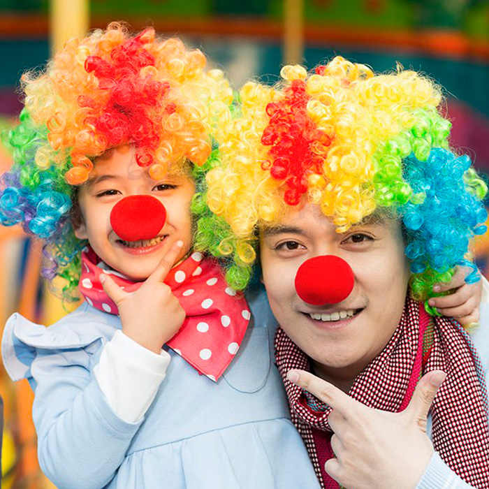 50 sztuk 3 kolor urocza czerwona piłka gąbka klauna nos dla dekoracja na przyjęcie ślubne boże narodzenie Halloween kostium magia sukienka akcesoria
