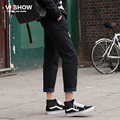 VIISHOW Straight Pants Men Black Sweatpants Casual Hip Hop Long Trousers Men Cargo Homme Pants for Men KC18163