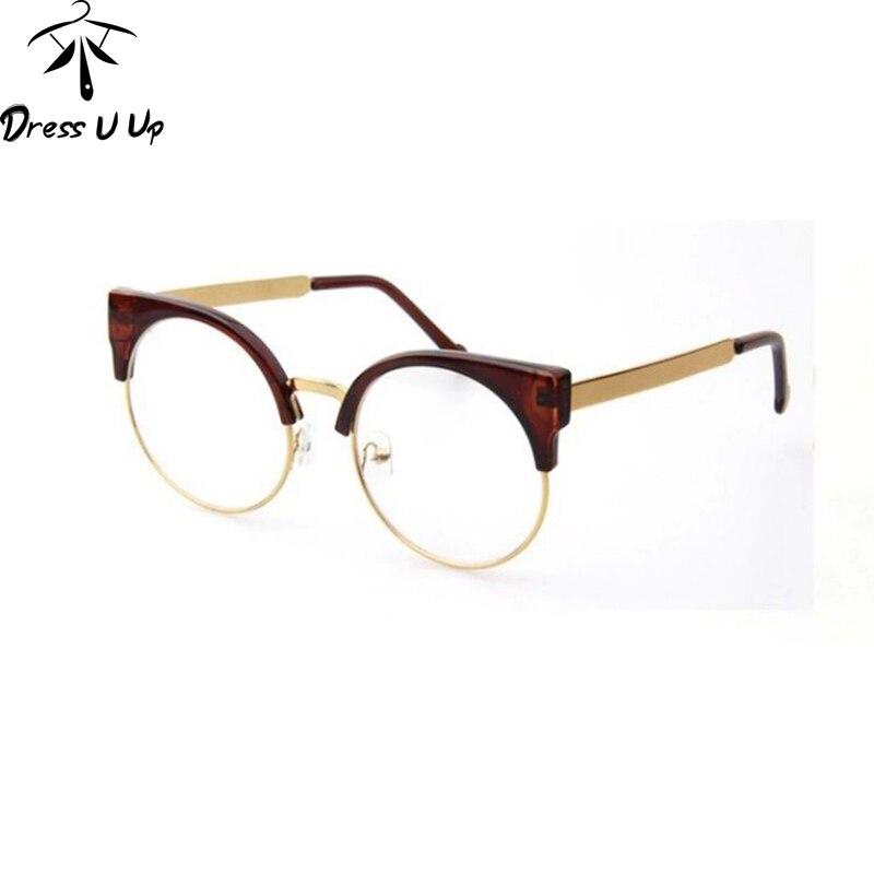 DRESSUUP Vintage Marke Designer Cat Eye Brille Frauen Rahmen Gläser ...