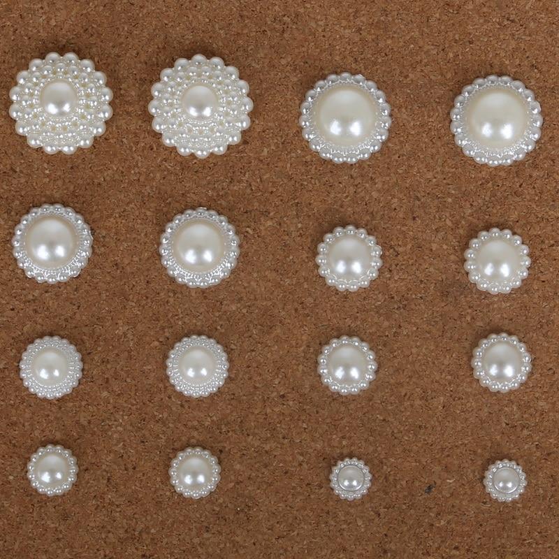 Paquete De Imitación Perla Redonda 12mm ABS Imitación Brillante Sin Agujero cerrado del grano