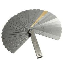 1 шт., нержавеющая сталь, 32 лезвия, щупа, метрический зазор, наполнитель 0,04-0,88 мм, толщиномер для измерения, измерительный инструмент