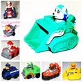 1 piece  cute puppy of  Action Toy Figures dogs  plastic scooter cartoon car( everest dog) with original box