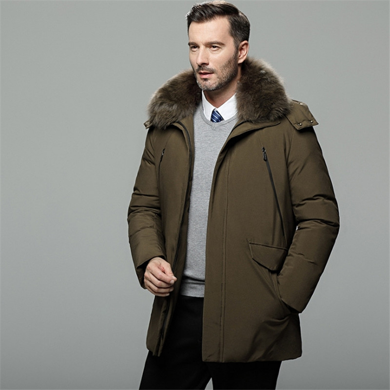 Male Warm High Quality   Down     Coats   Male Casual Winter Outerwer   Down   Parkas 5XL Men   down   jacket winter Outerwear For Daddy   Coat