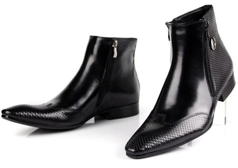 Große Chelsea schwarz Braun Kleid Eur45 Schuhe Leder Stiefeletten Black brown Aus Herren Echtem Größe Stiefel Serpentin fqwXrt4f