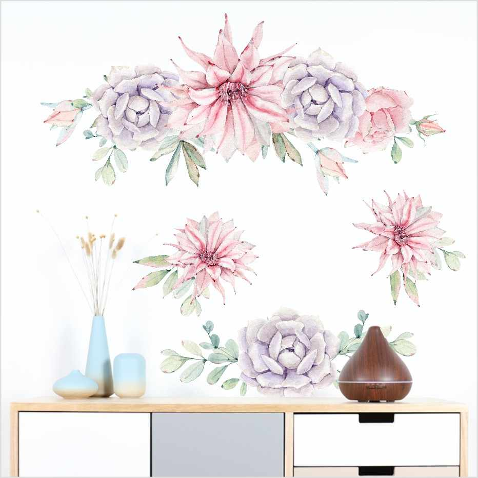 Beautiful Big Flowers 3d Wall Sticker Home Decor Living Room Bedroom Poster Wall Decals Wallpaper Background Wall Art Decoration