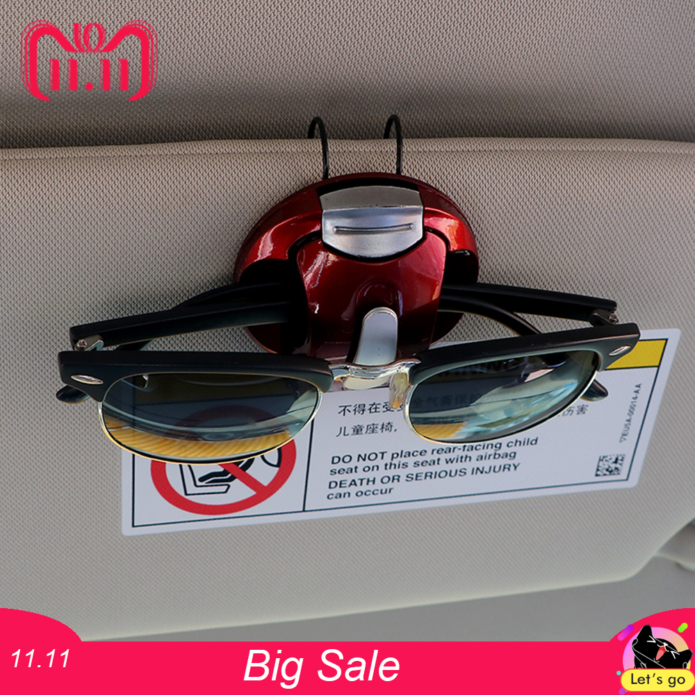 цена на Car Glasses Cases Card Ticket Pen Clip Portable Sun Visor Sunglasses Eyeglasses Holder ABS Fastener Clip Interior Accessories