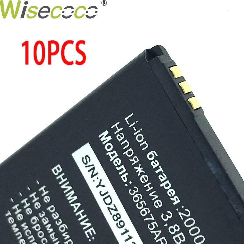 WISECOCO Em Estoque 10 365675AR pçs/lote 2019 New 2000 mAh Original Bateria Para Tele2 Telefone Com Número de Rastreamento