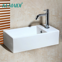 KEMAIDI Washbasin New Ceramic Washbasin Vessel Lavatory Basin Bathroom Sink Bath Combine Brass Faucet Mixers & Taps