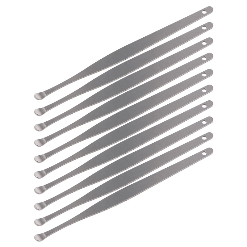 10Pcs Stainless Steel Ear Pick Wax Cleaner Earpick Curette Remover Earwax Removal Ear Care Tool
