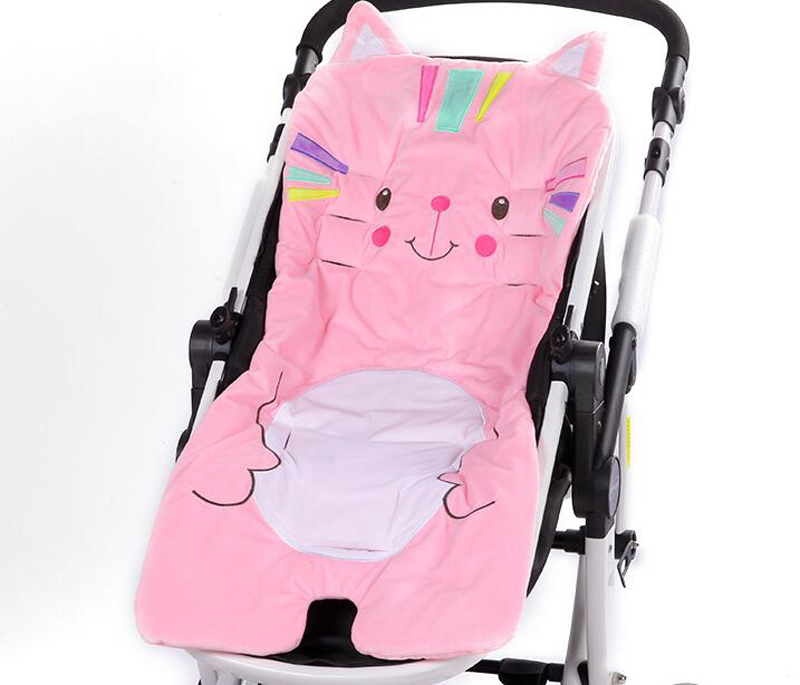 New Pram Cute Cartoon Comfortable Thicken Polyester Cotton Stroller Linerbaby Chair Cushion Baby Stroller Cushion Stroller Seat Mother & Kids Strollers Accessories
