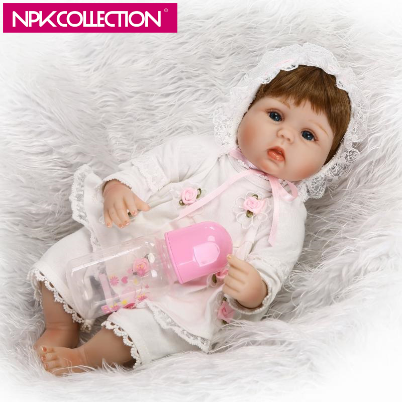 NPK 17 Inch 42cm Reborn Baby Girl Doll Handmade Realistic Looking Cute Lovely Baby Doll Kids Gift Toy beiens furniture doll 19 pcs children kids baby girl s cute lovely toy fashion makeup chair make up table set dresser
