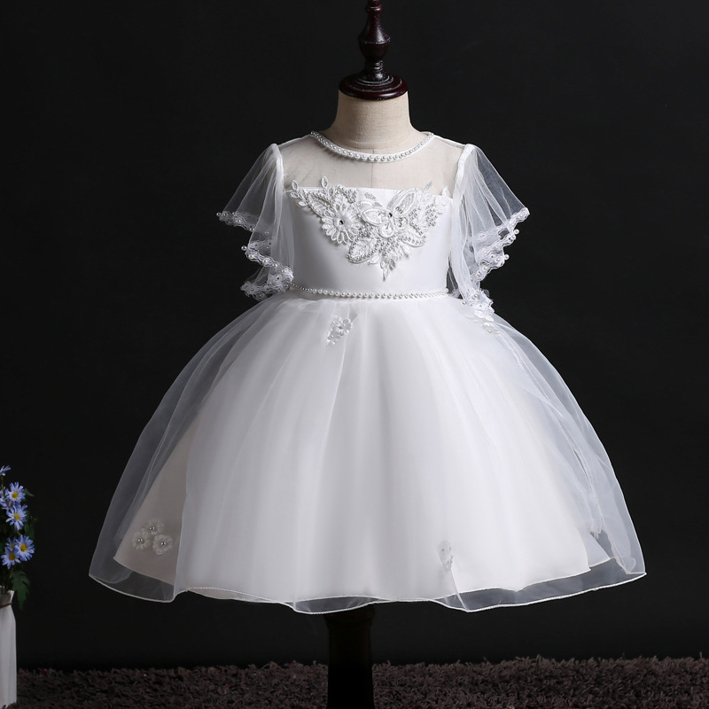 Girls   Party Performing   Dresses   for New School Evening on Campus Princess   Flower   and Child's Wedding Garment Banquet Pearl Dresse