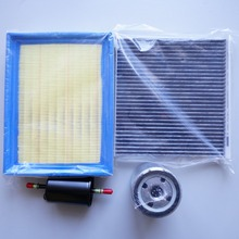 Voor MG 350 luchtfilter/cabine airconditioning filter/brandstof/Olie filter vier filters kwaliteit Roewe 350