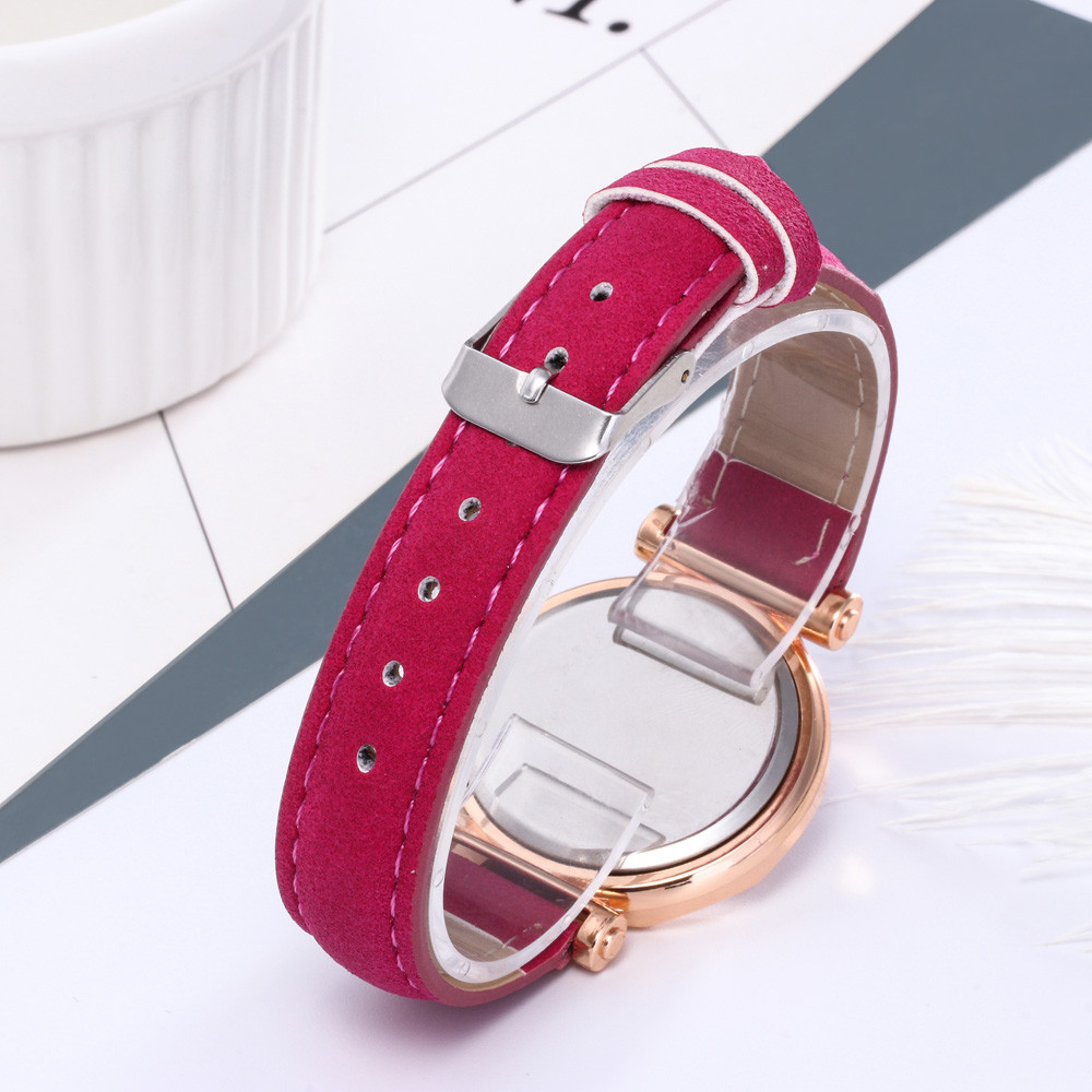 Hot sell Casual Women Romantic Starry Sky Wrist Watch Leather Rhinestone Designer Ladies Clock Simple Dress Gfit Montre Femme S 4