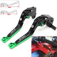 Motorcycle CNC Adjustable Foldable brake Clutch Levers for Kawasaki ZR750 ZEPHYR 1991 1992 1993 with Logo(ZEPHYR)