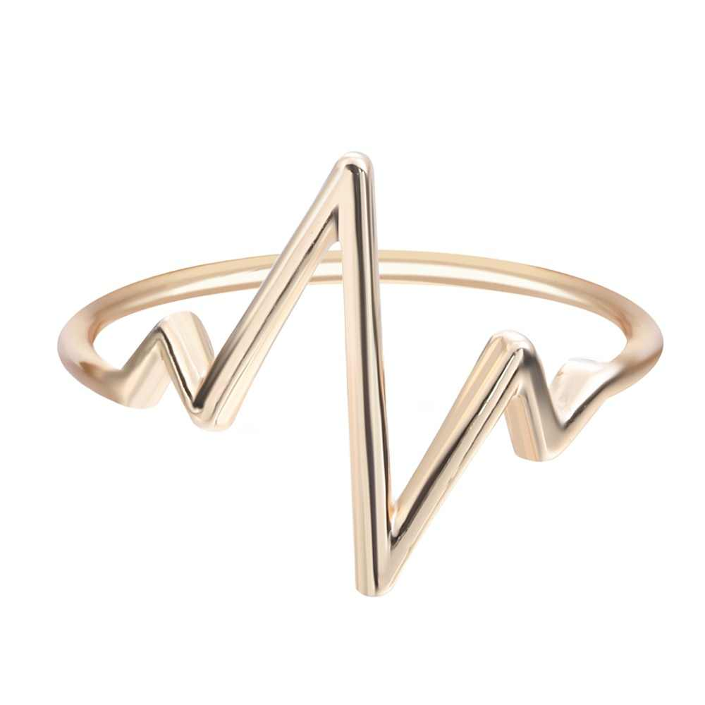 Todorova Punk Rock Skull Ring Female Heart DNA Wave Rings for Women Fashion Men Jewelry Toe Ring Dropshipping