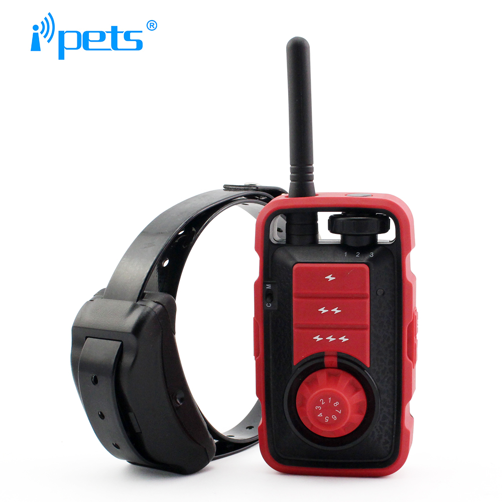 Ipets 610 1 800M Rechargeable And Waterproof Vibration Electric Shock Collar With Beep Dog Training Collar