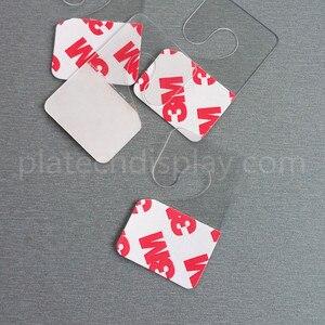 Image 5 - Kunststoff PVC PET Peghooks Hängen Hängen Tab J Haken auf Waren Paket Box Tasche Kleiderbügel Display Selbstklebende Stil 400 stücke
