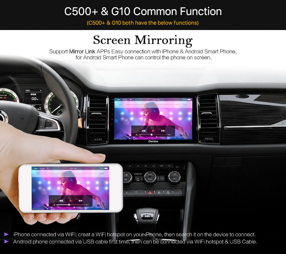 Sale Ownice C500+ G10 Octa Core android 8.1 Car DVD player 32G ROM  for bmw E39 GPS Radio RDS GPS Navi stereo player 2G ram 4G LTE 20