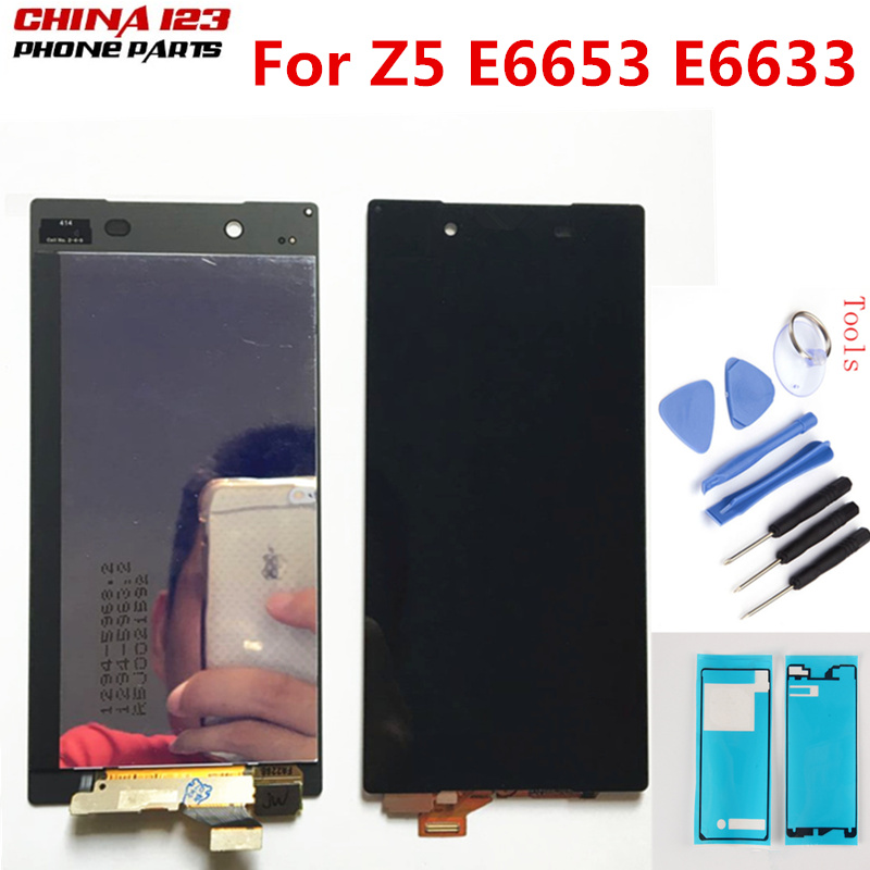 Testé Pour Sony Xperia Z5 E6633 E6683 E6603 E6653 LCD Affichage à L'écran Tactile Digitizer Assemblée avec Cadre Double carte 1920*1080